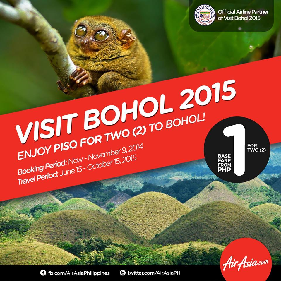 Travel With Your Partner To Bohol For P1 With AirAsia!