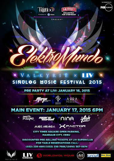 Elektromundo: Sinulog Music Festival 2015 by Globe, LIV, and Valkyrie