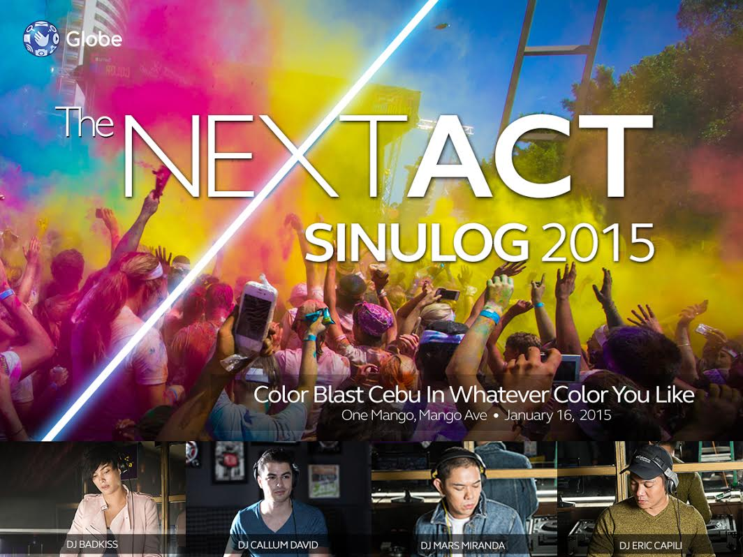 Globe Presents: COLOR BLAST, The NextACT Sinulog 2015 Party