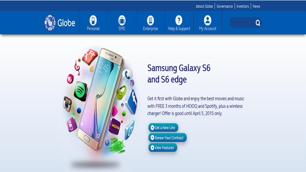 samsung-galay-edge-s6-globe-telecom-pre-order