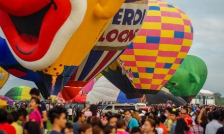 Colored Skies At Lubao International Balloon & Music Festival